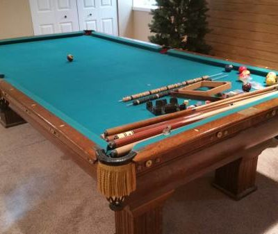 Antique Brunswick 1900 Pool Table