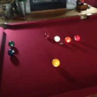 8Ft Claw Foot Pool Table