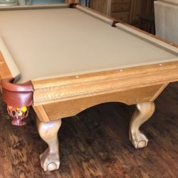 8' Brunswick, Solid Oak with Ball & Claw legs.  Excellent Condition